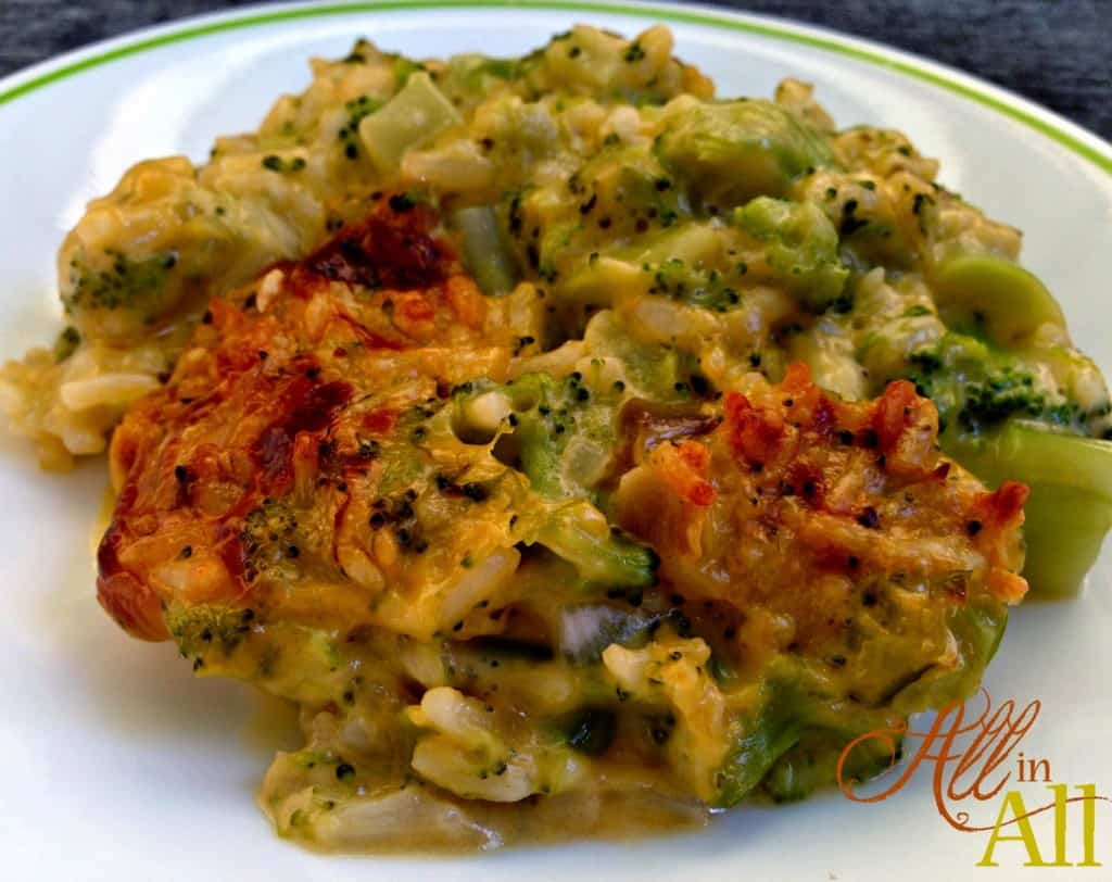 Cheesy Broccoli Rice Casserole - This comforting dish will be the hit of the dinner table!