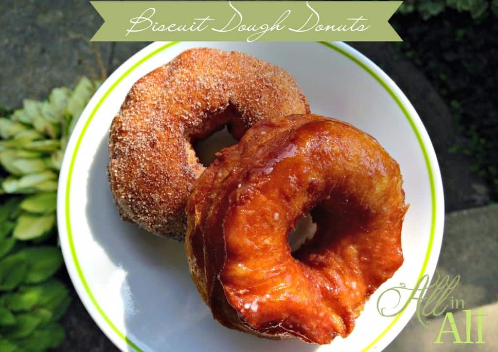 Biscuit Dough Donuts