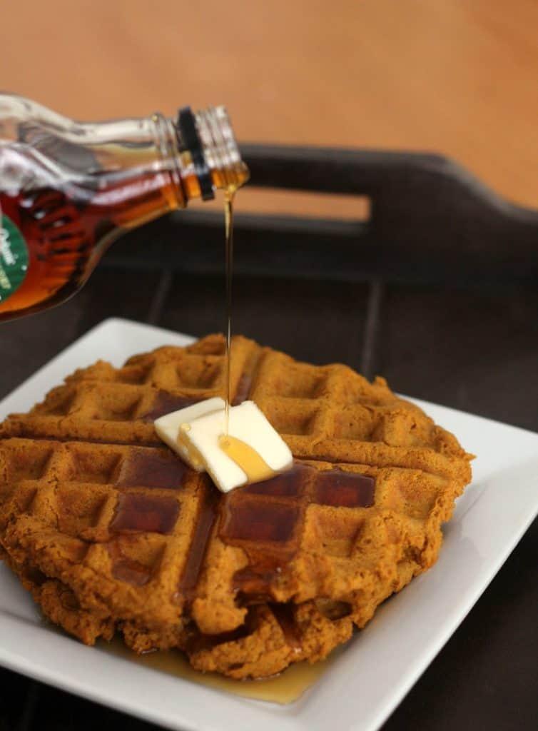 Pumpkin Spice Waffles (Vegan, Gluten-Free)