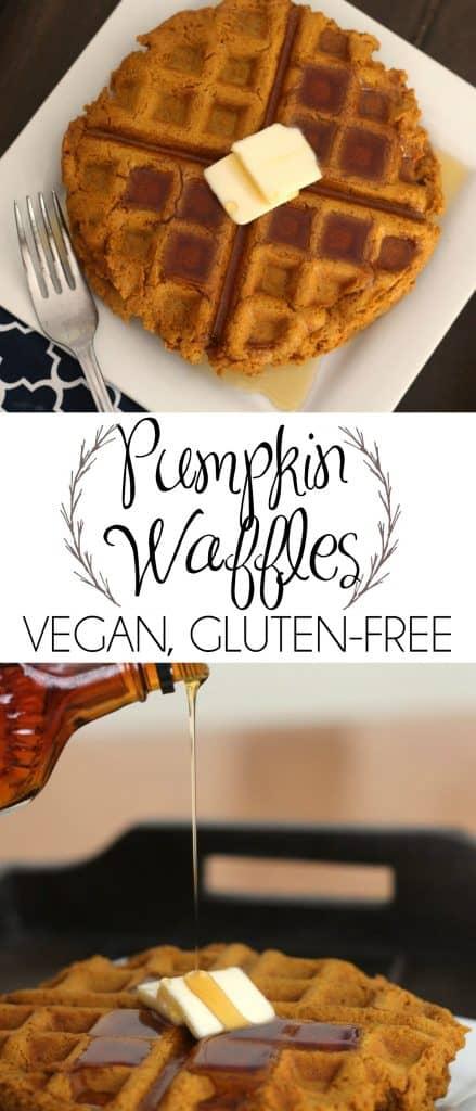 Pumpkin Spice Waffles - Vegan, Gluten-Free, Dairy-Free, Egg-Free | Vegan Waffles | Pumpkin Waffles | Healthy Breakfast | Gluten Free Waffles | Daniel Fast | #DanielFast #Waffles #HealthyBreakfast #VeganWaffles #GlutenFreeWaffles