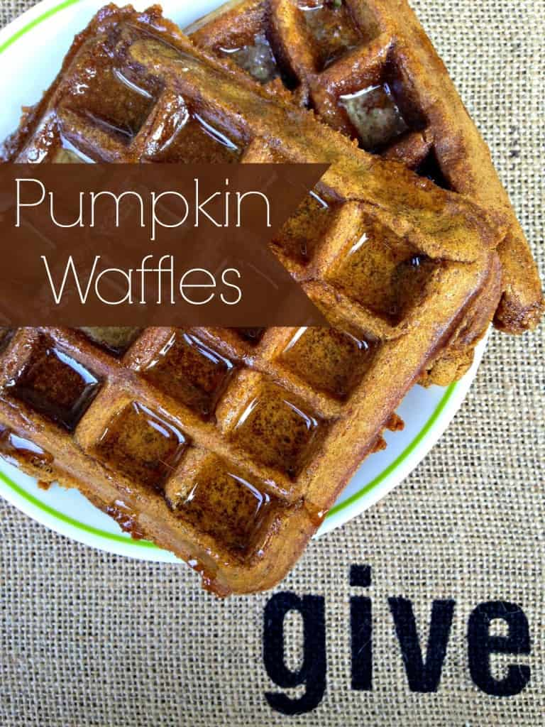 Pumpkin Spice Waffles - These delicious and satisfying pumpkin waffles just happen to be vegan and gluten free! Your tastebuds will be happy and your body will be nourished.