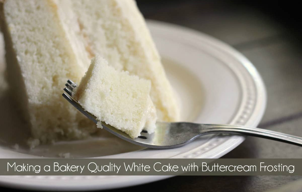 Terrific Making A Bakery Quality White Cake With Buttercream Frosting Mom Personalised Birthday Cards Paralily Jamesorg