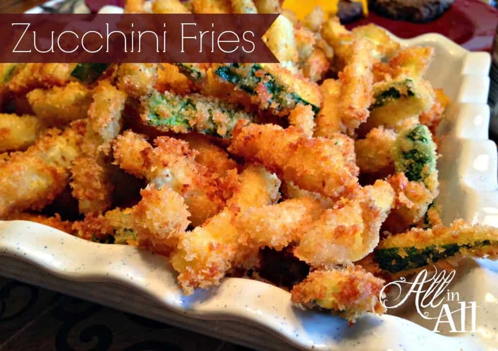 Crunchy golden brown zucchini fries that are just as good as any restaurants version!