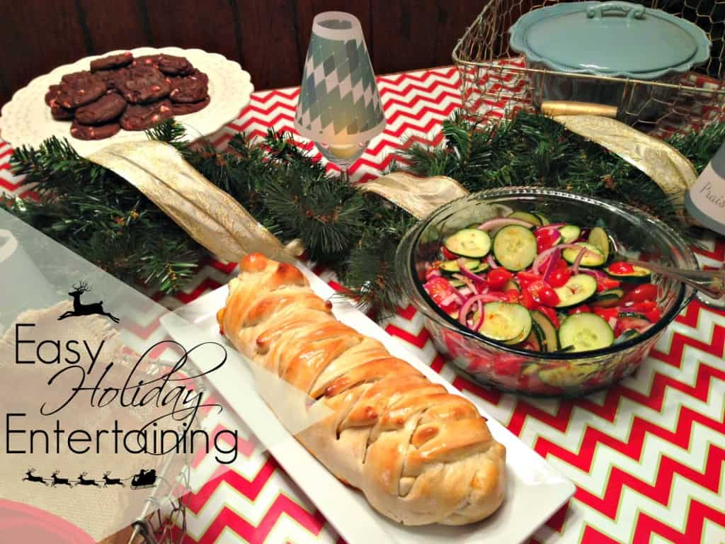 Easy Holiday Entertaining | Lasagna Stuffed Garlic Bread recipe and other great ideas for a wonderful (easy!) holiday gathering