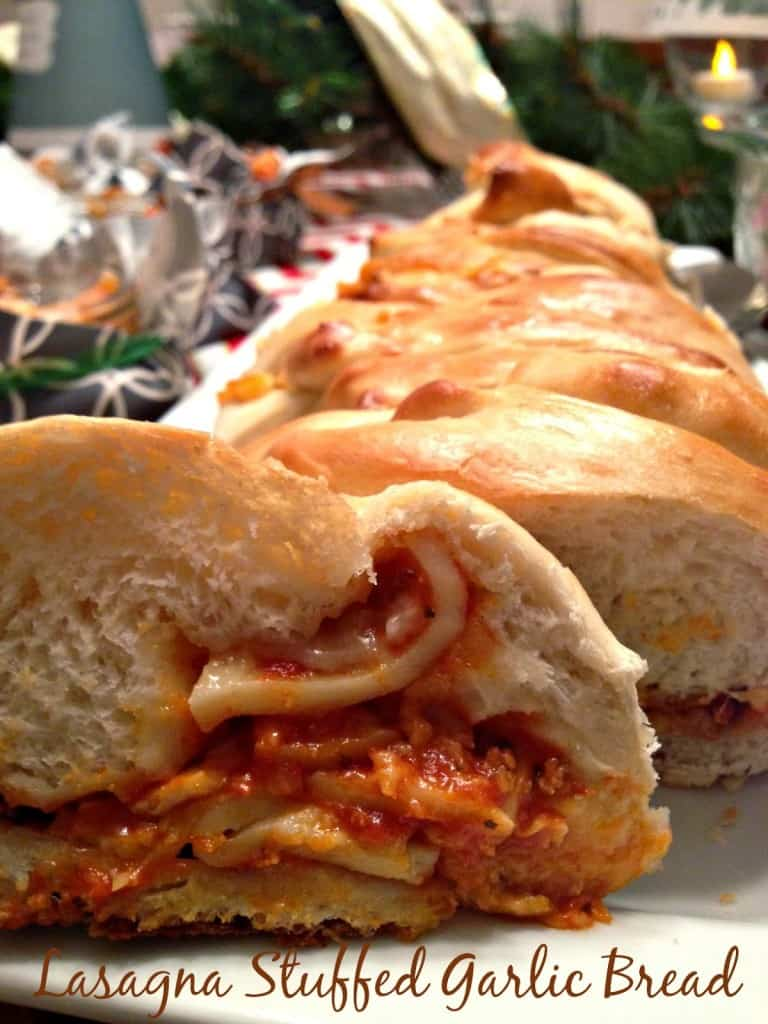 Easy Holiday Entertaining   Lasagna Stuffed Garlic Bread recipe and other great ideas for a wonderful (easy!) holiday gathering