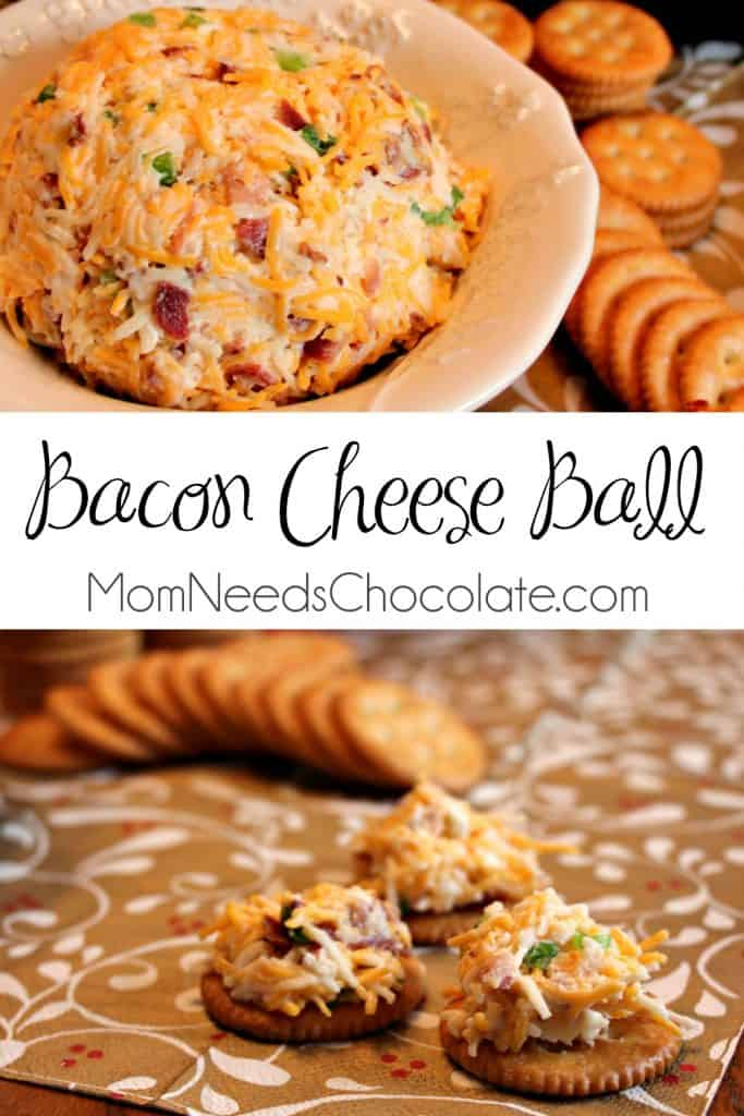 Million Dollar Dip - AKA Bacon Cheese Ball | Appetizer | Snack | Cheese Ball | Miracle Whip | #GameDayAppetizers #GameDaySnacks #SuperBowlParty #GameNight