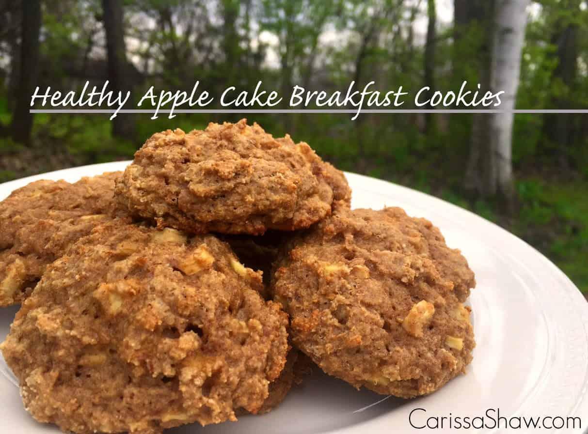 Healthy Apple Cake Breakfast Cookies