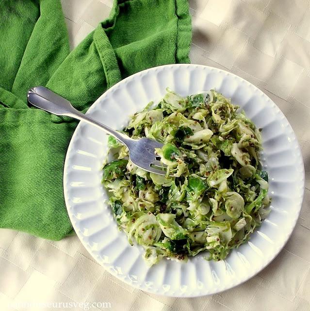 http://www.connoisseurusveg.com/2013/11/dijon-sauteed-brussels-sprouts.html