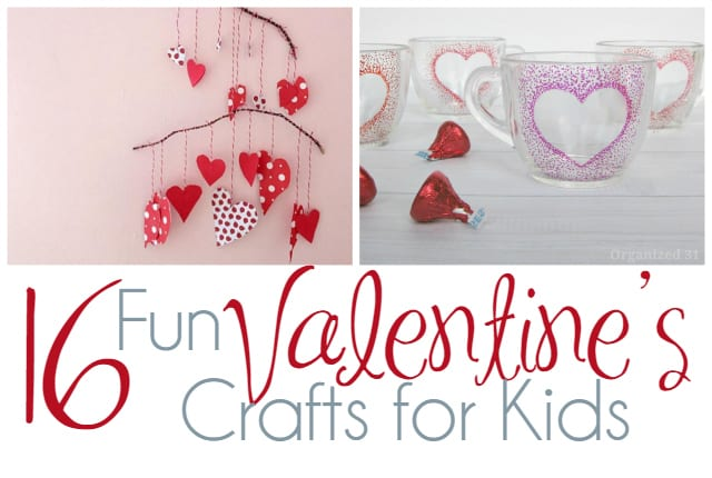 16 Fun Valentine's Crafts for Kids Header