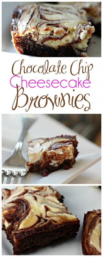 Cure your brownie craving with delicious Chocolate Chip Cheesecake Brownies! This decadent treat is easy to make as well as budget friendly. The combination of rich, gooey brownie and creamy cheesecake will make your mouth water! #Chocolate #Brownies #CheesecakeBrownies #Cheesecake #MomNeedsChocolate