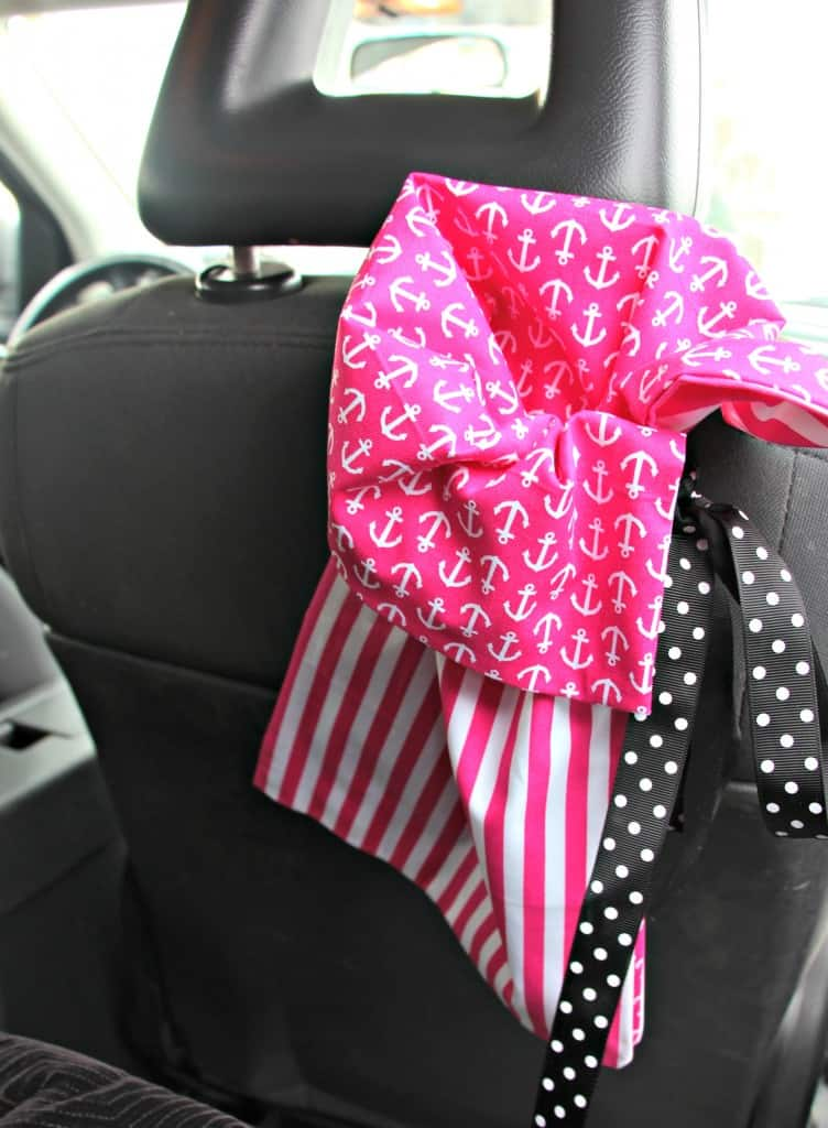 No Sew Reusable Car Trash Bags