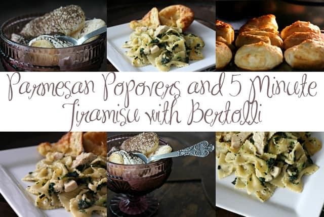Parmesan Popovers and 5-Minute Tiramisu with Bertolli 24