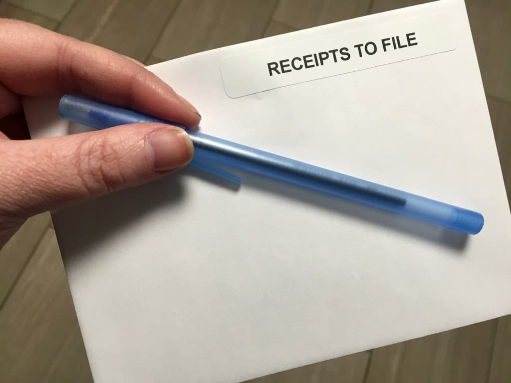 Organizing Receipts for Tax Time 13