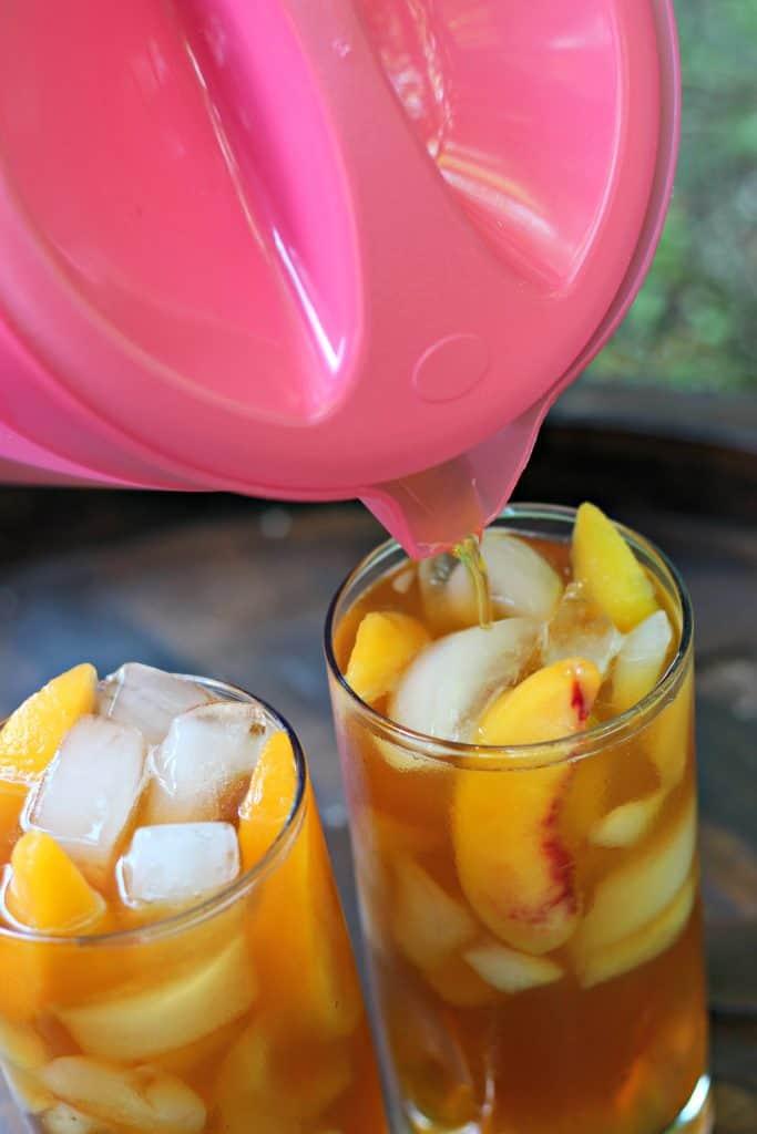 Grilled Pineapple Ice Cream Cake and Peach Iced Tea 10