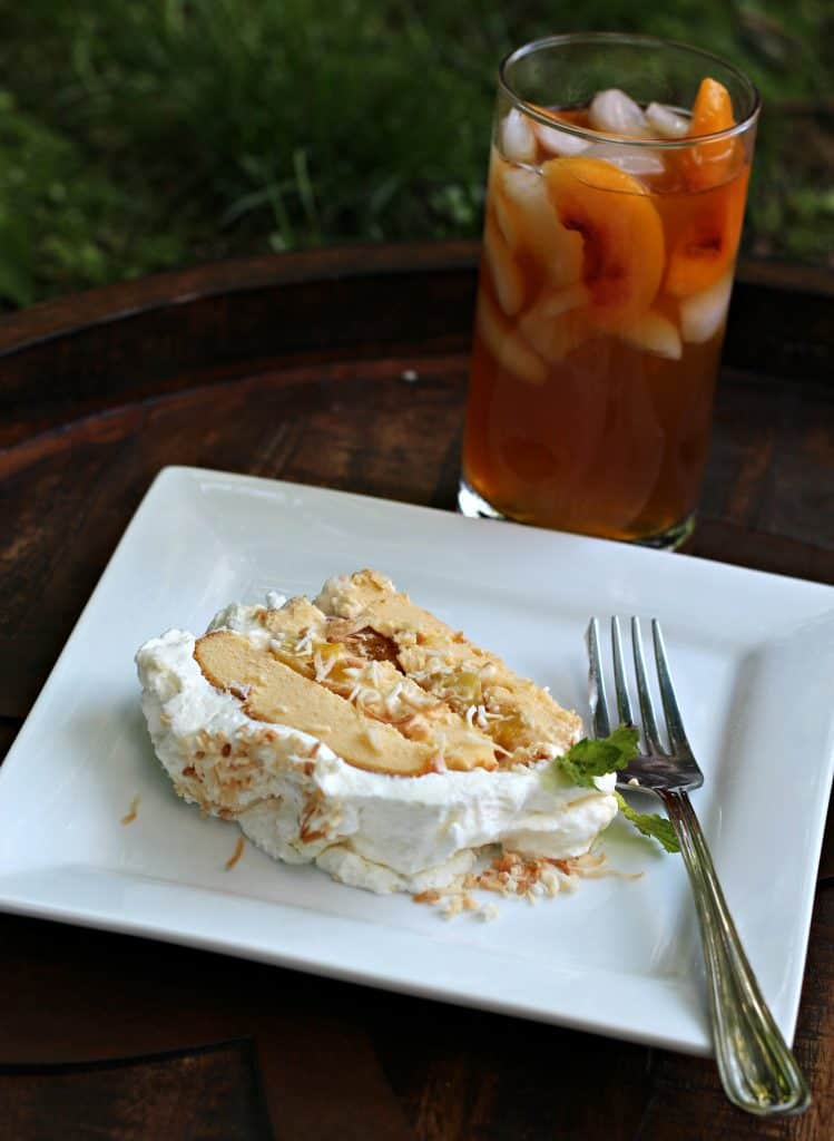 Grilled Pineapple Ice Cream Cake and Peach Iced Tea 13