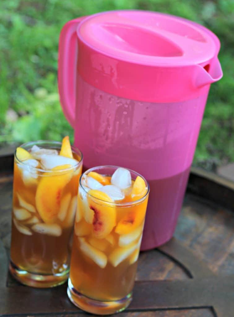 Grilled Pineapple Ice Cream Cake and Peach Iced Tea 8