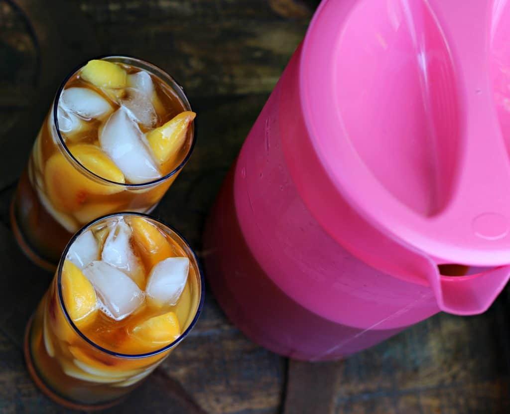 Grilled Pineapple Ice Cream Cake and Peach Iced Tea 9