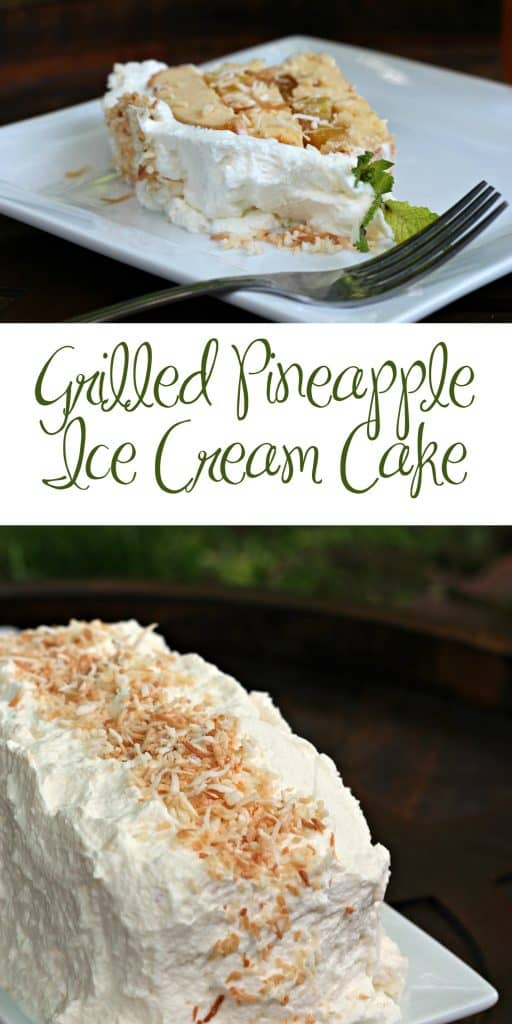 Grilled Pineapple Ice Cream Cake and Peach Iced Tea pin2