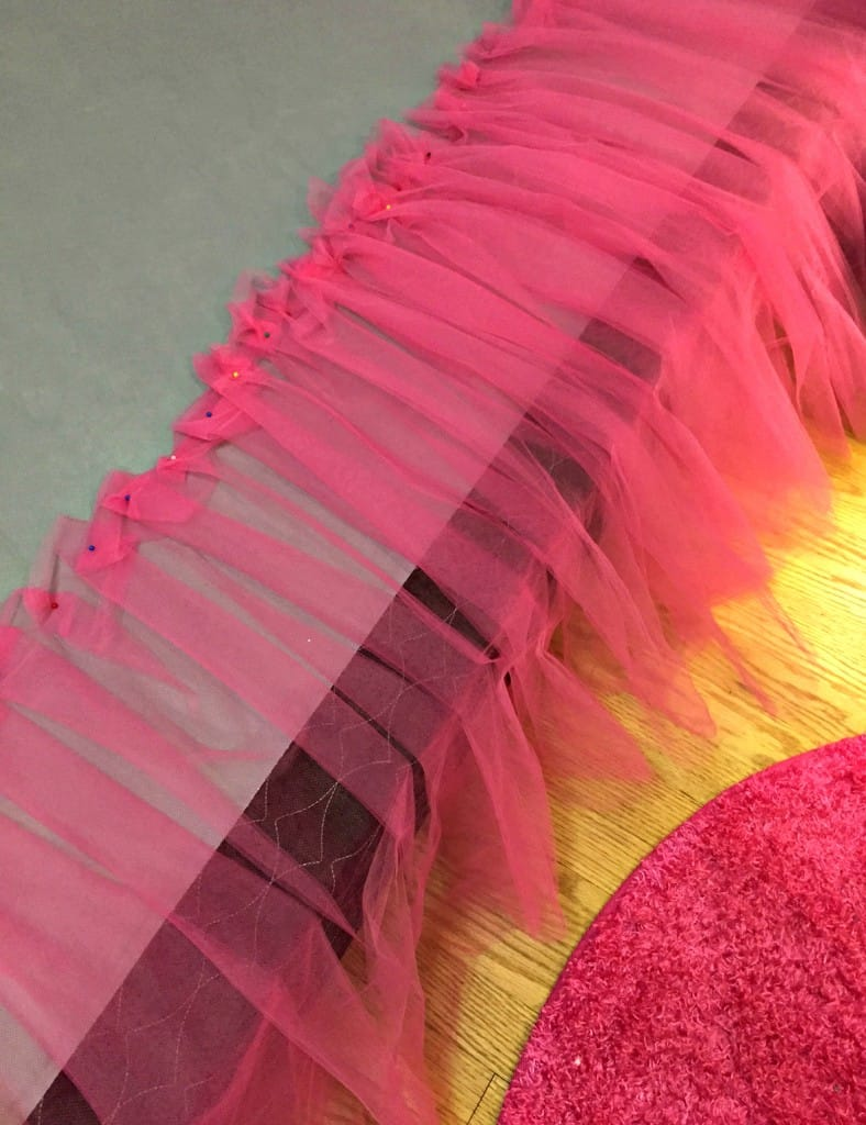 No-Sew Tutu Bed Skirt 2