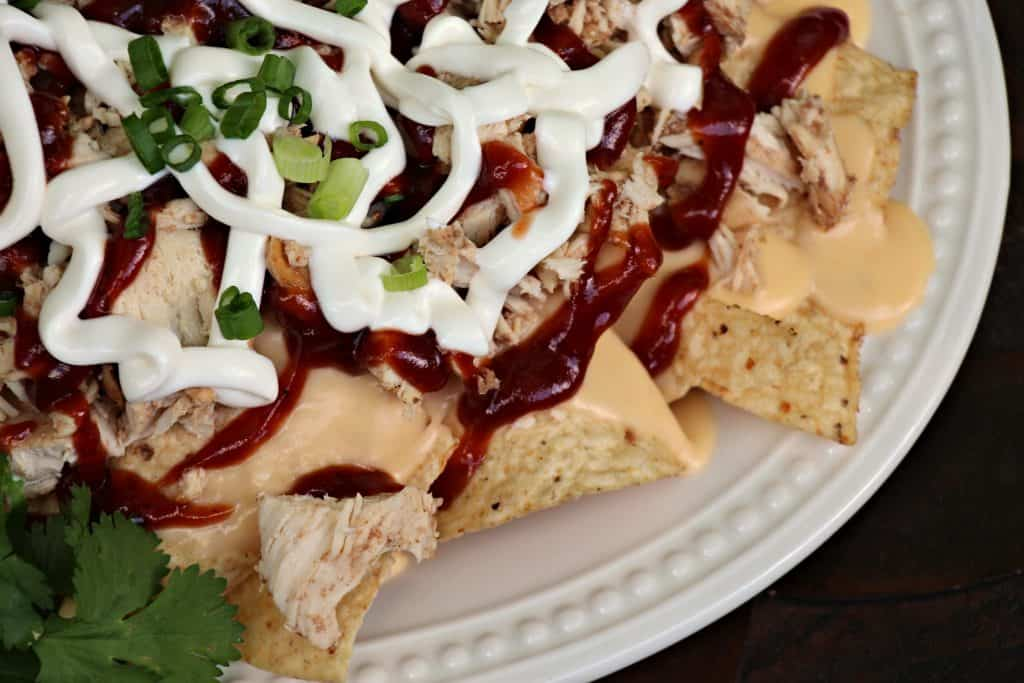 BBQ Pulled Chicken Nachos 8