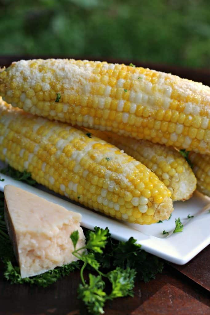 Garlic Parmesan Corn on the Cob 7