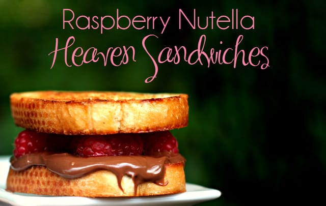 Raspberry Nutella Heaven Sandwiches 4
