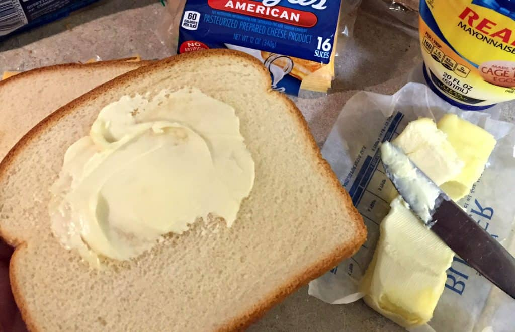 butter-or-mayonnaise-grilled-cheese