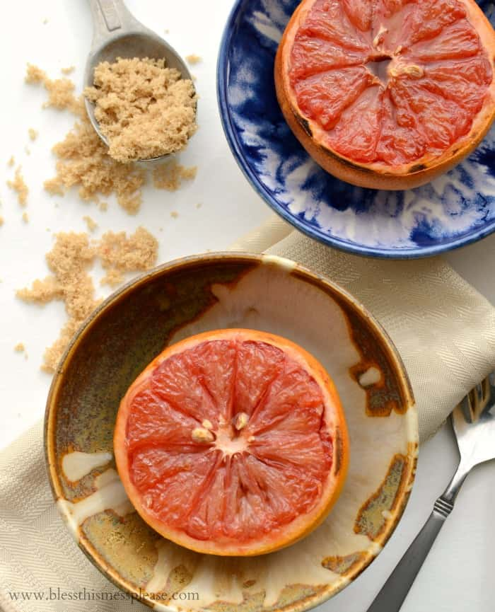 broiled-grapefruit