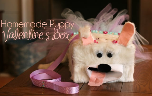 Puppy Valentine's Box + Fun Valentine's Crafts for Kids
