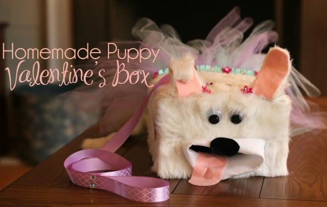 Puppy Valentine's Box + Fun Valentine's Crafts for Kids
