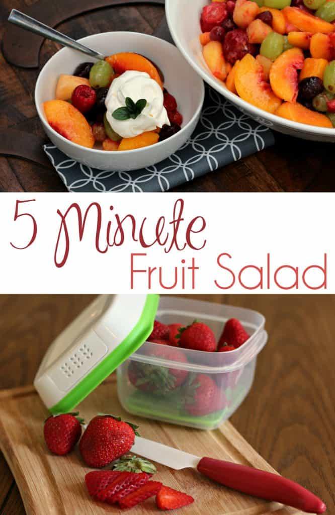 Five Minute Fruit Salad pin