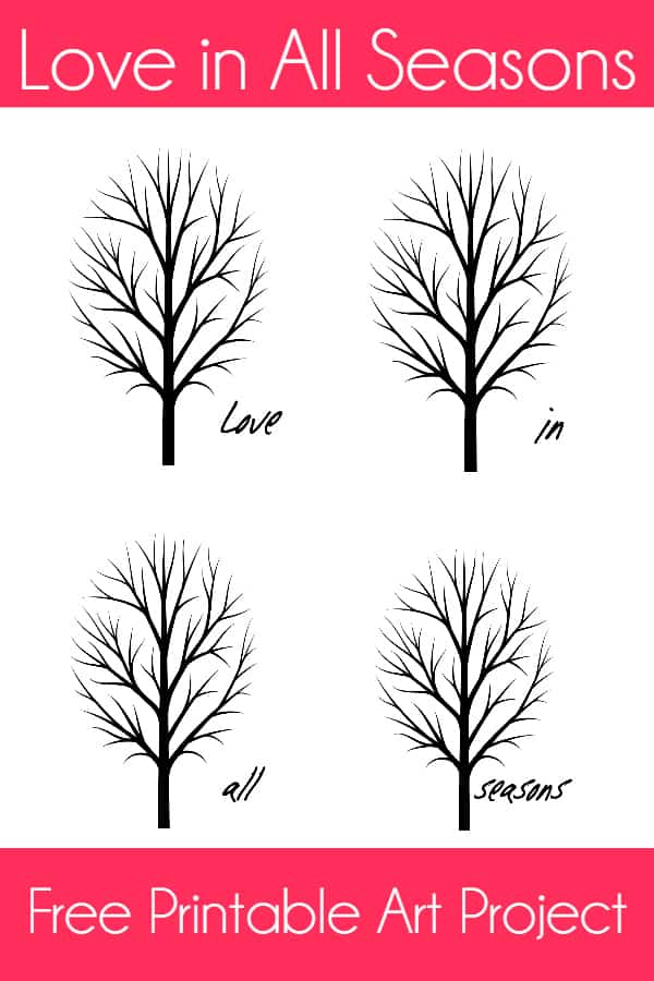 Love in All Seasons Free Printable Art Project