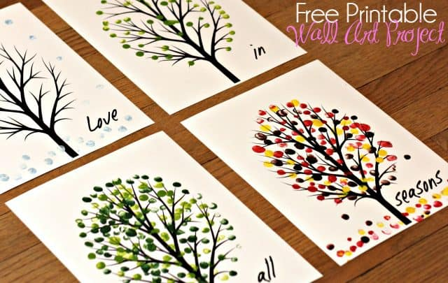 Love in All Seasons – Free Printable Art Project 7