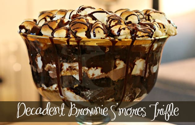 Decadent Brownie S'mores Trifle