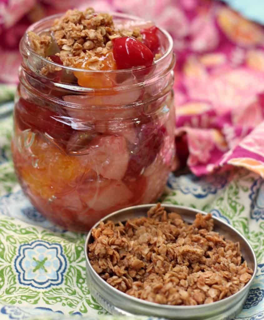 Mixed Fruit Salad with Cherries and Granola