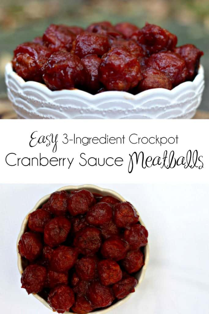 Cranberry Sauce Meatballs | 3 Ingredient Recipe | Appetizer | Snack | Holiday Appetizer | CrockPot Meatballs | Slow Cooker Meatballs