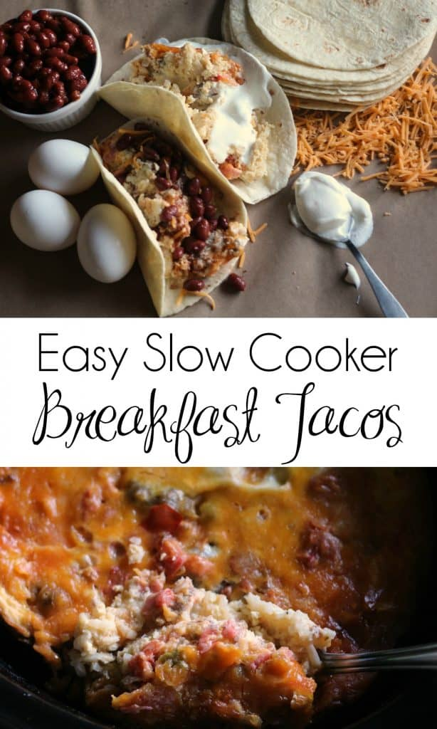 Easy Slow Cooker Breakfast Tacos Recipe | #BreakfastTacos #CrockPotBreakfastTacos #SlowCookerBreakfastTacos | Easy breakfast | Breakfast Tacos