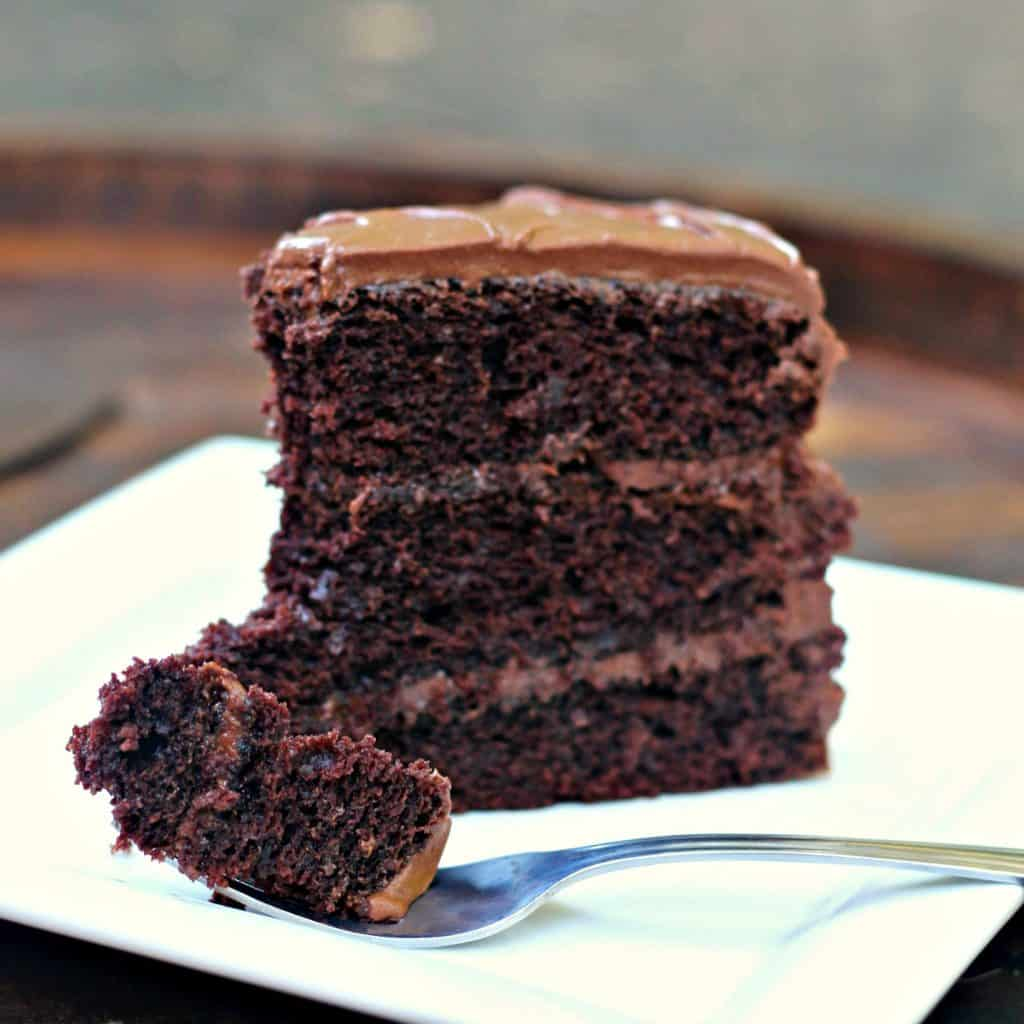 Moist Chocolate Cake Made With Sour Cream