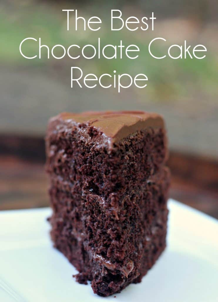 The Best Chocolate Cake Recipe. Three Layer Chocolate Cake | Chocolate Sour Cream Cake | Chocolate Frosting | Chocolate Sour Cream Frosting