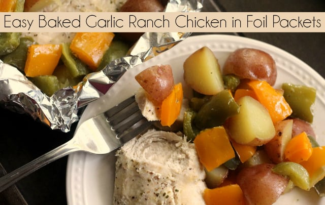 Easy Baked Garlic Ranch Chicken in Foil Packets | Easy Dinner | Chicken in Foil Packet | Chicken and Vegetables | 30 Minute Meal #EasyRecipe #Chicken #DinnerRecipe #FoilPacket #HealthyDinner
