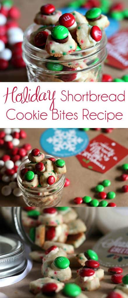 Holiday Shortbread Cookie Bites Recipe | Shortbread Cookies | Christmas Cookies | #ChristmasCookies #ChristmasCookieRecipes #M&Ms