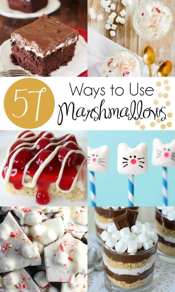 57 Ways to Use Marshmallows   #Marshmallows #MarshmallowRecipe #MarshmallowPops   Marshmallow Recipe   Homemade Marshmallows   Marshmallow Pops