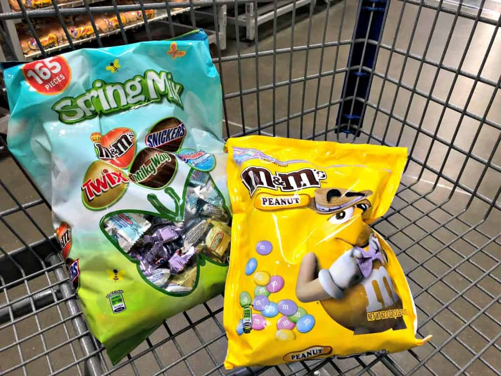 99 Easter Basket Ideas for Kids Plus Free Printable - M&M'S Peanut and MARS Spring Mix at Sam's Club