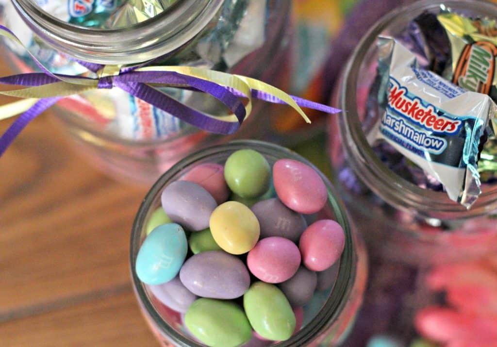 99 Easter Basket Ideas for Kids Plus Free Printable - Candy in mason jars