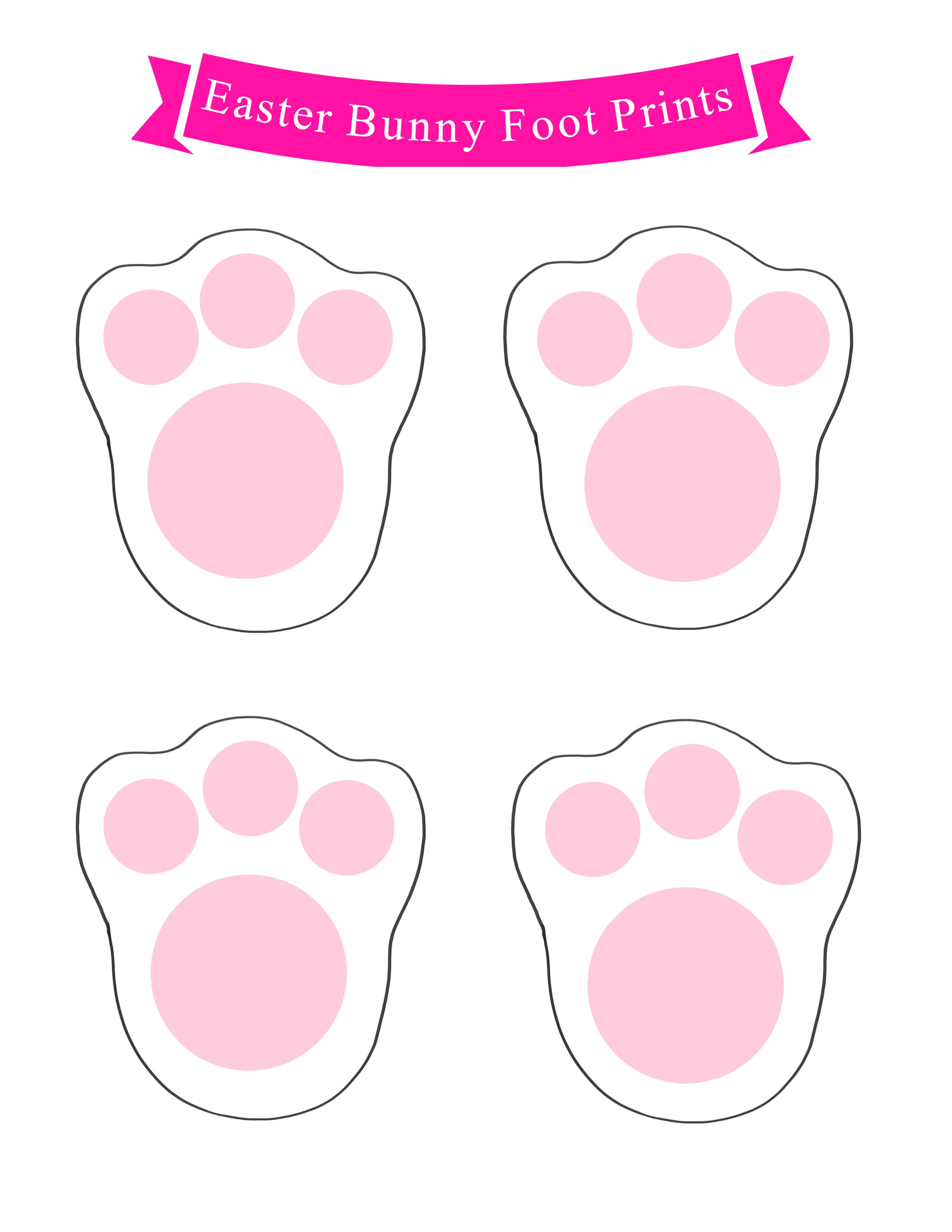 graphic about Printable Easter Bunny Footprints titled 99 Easter Basket Guidelines for Young children Furthermore Cost-free Printable - Mother
