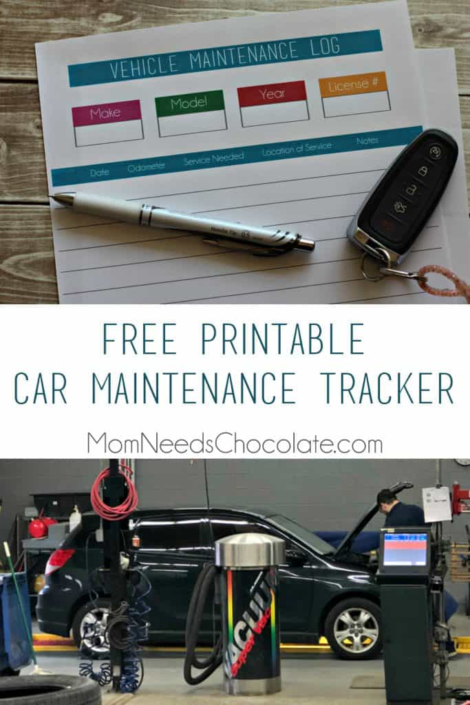 Free Printable Car Maintenance Tracker | #VehicleMaintenance #CarMaintenance #OilChange #ChangeOil #NewCar #FreePrintable #Walmart | Vehicle Maintenance | Oil Change | Free Printable