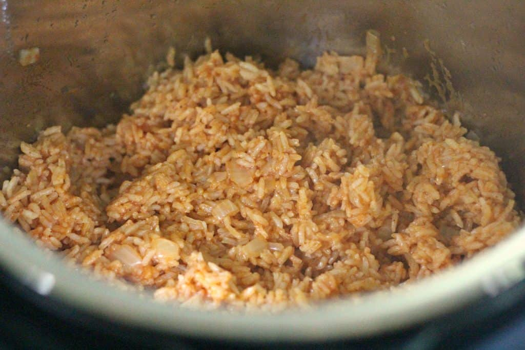 Finished Instant Pot Mexican Rice