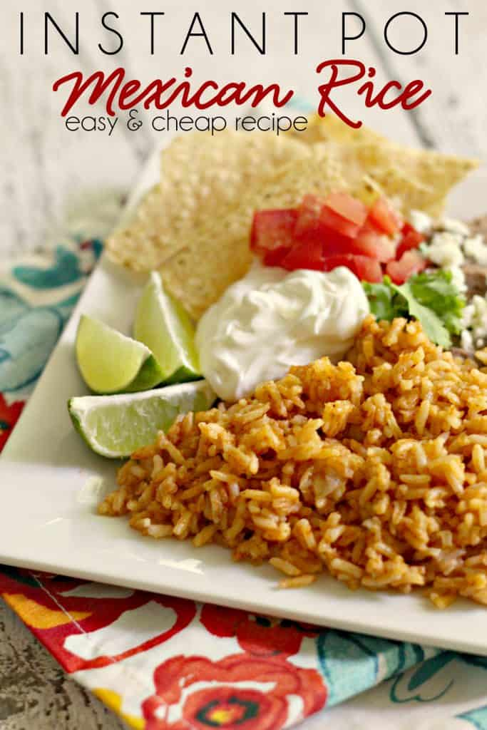Looking for a simple yet delicious recipe for restaurant quality Mexican rice? Here it is! Making Instant Pot Mexican Rice is incredibly easy and your taste buds will do a happy dance. | #MomNeedsChocolate #Mexican #Rice #SideDish #Dinner #MexicanFood #InstantPot #EasyDinner #CheapDinner #CheapRecipe
