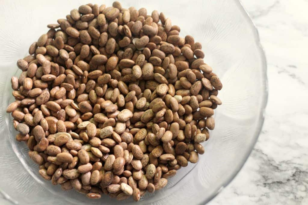 Dry beans in a bowl - Instant Pot Refried Beans