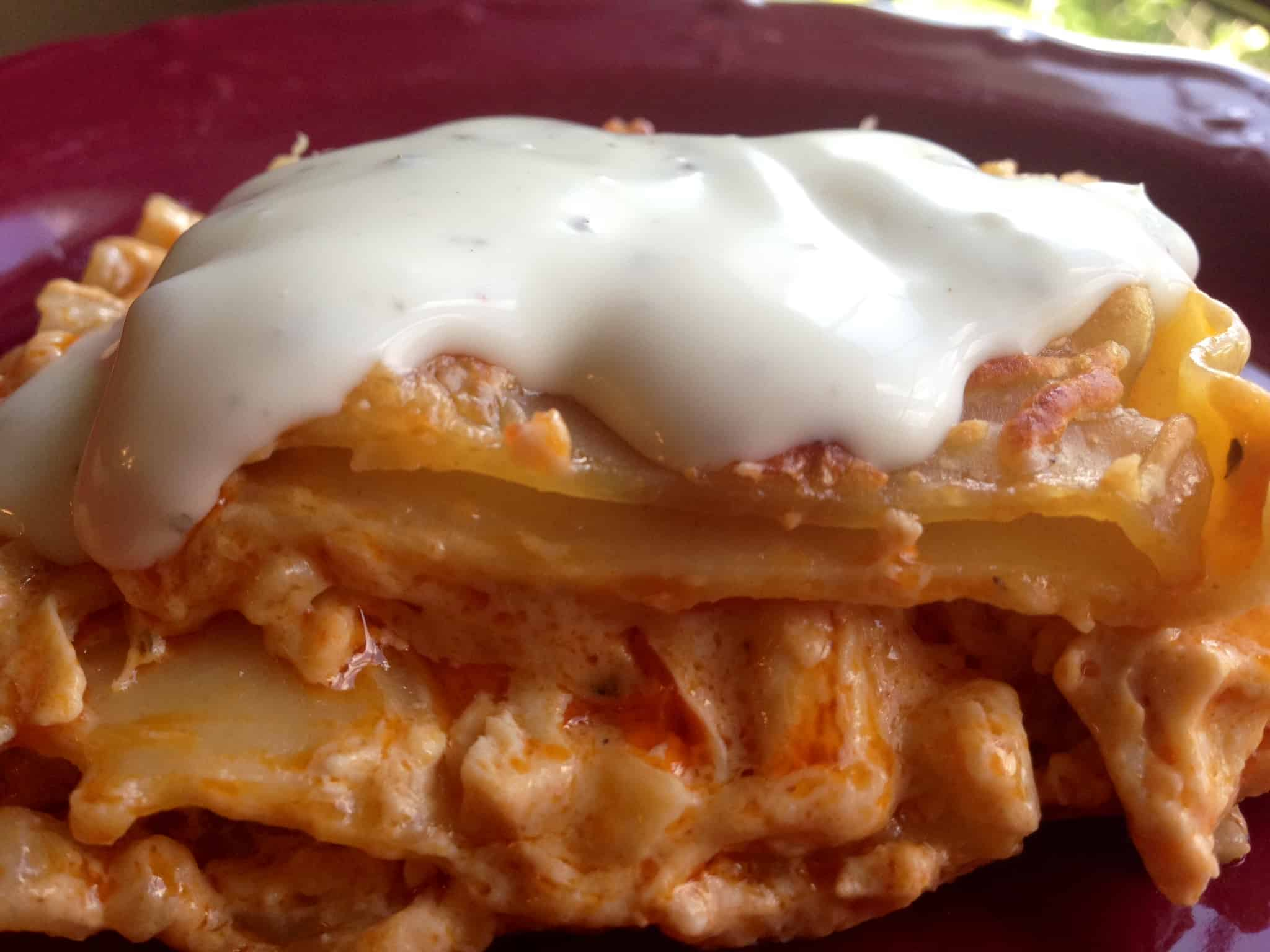 Buffalo chicken lasagna mom needs chocolate buffalo chicken dip lasagna recipe forumfinder Choice Image